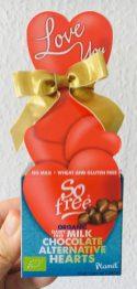 Plamil So free Valentins-Schokolade Organic Milchfreie Milchschokolade Herz-Verpackung