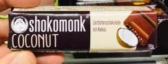 Shokomonk Coconut Zartbitterschokolade mit Kokos 50 Gramm