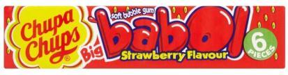 Chupa Chups Kaugummi Big Babol Erdbeere Bubble Gum