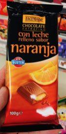 Eigenmarke von Mercadona: Hacendado-Schokolade mit Naranja (Orange)!