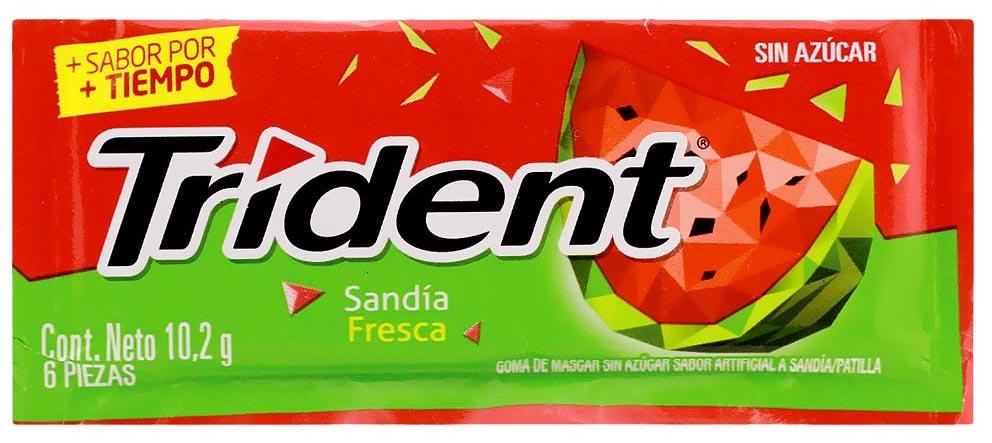 Mondelez Trident Kaugummi Wassermelone Sandia