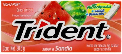 Mondelez Trident Kaugummi Wassermleone Spanien