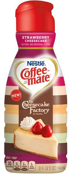 Nestlé Coffeemate The Cheesecake Factory brand