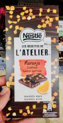 Orangenschokolade Nestle L'Atelier Naranja Orangenstückchen Tafelschokolade