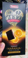 Torras Zero Zucker Fondant Naranja Dark+Orange Tafelschokolade