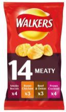 Interssante Mischung: Walkers packt 14 Tütchen verschiedener Fleisch-Geschmäcker in ein Großgebinde.