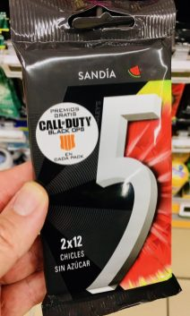 Wrigleys Sandia 5Gum Chicles Call of Duty Gratis Spanien
