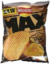"Walkers Max Ridged Geschmack ""Flame grilled Steak"""