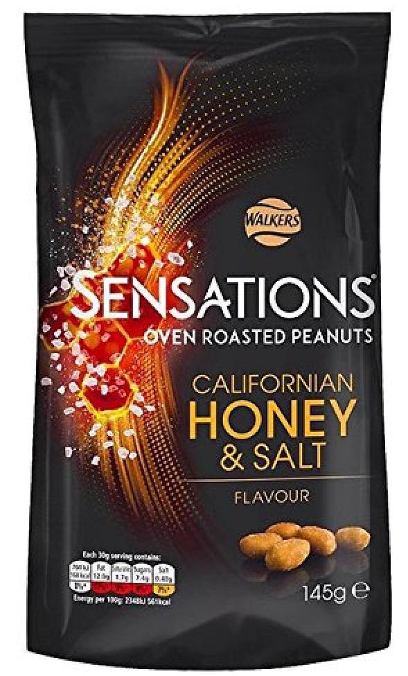 Walkers Sensation Californian Honey + Salt