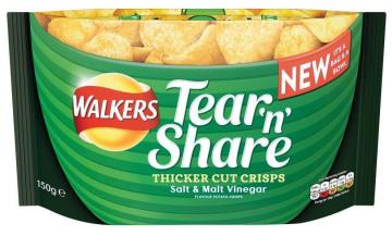 Walkers Tear and share salt + malt vinegar_thicker_cut_crisps_150_g_