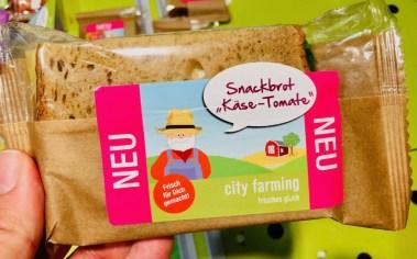 City Farming frisches Glück Snackbrot Käse-Tomate
