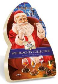 Trumpf Edle Tropfen in Nuss Weihnachts-Collection 300G 3 Sorten 24Pralinen