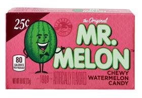 """Aus den USA von der Firma """"1908 Candy"""": Mr. Melon! Kaudragees."""