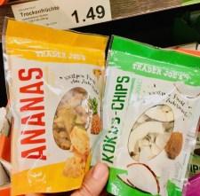 Aldi Trader Jo's Ananas und Kokos-Chips