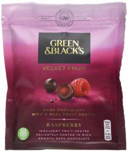 Green+Black's Velvet Fruit Schokoade mit Himbeere