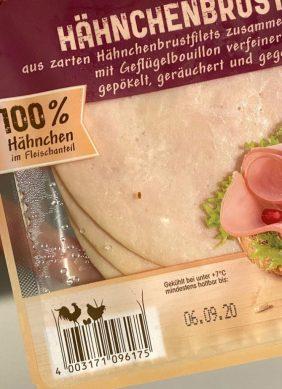 Wiesenhof Hähnchenbrust Natur mit gestaltetem Barcode