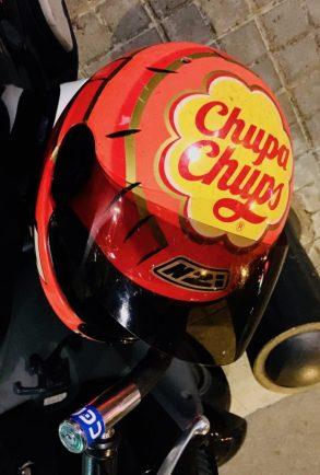 ChupaChups Motorhelm Barcelona