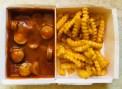EDEKA Gut&Günstig Currywurst und Pommes Mikrowelle fertig