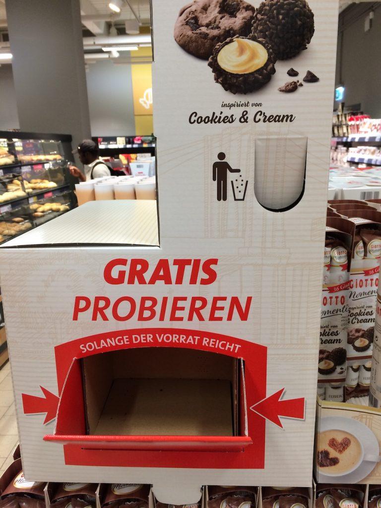 Ferrero Giotto Display gratis probieren Klappe