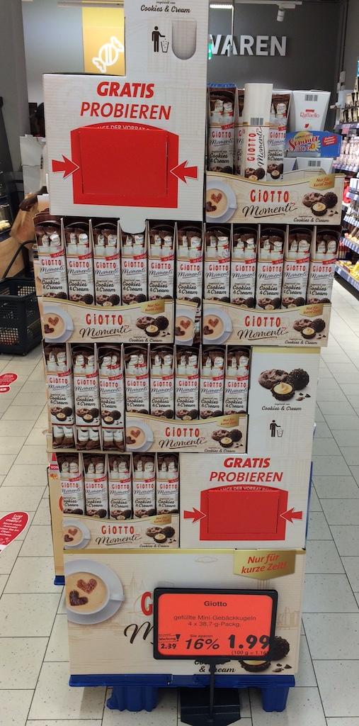 Ferrero Giotto Display gratis probieren