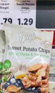 Lidl Snack Day Sweet Potato Chips Spring Herbs+Parmesan