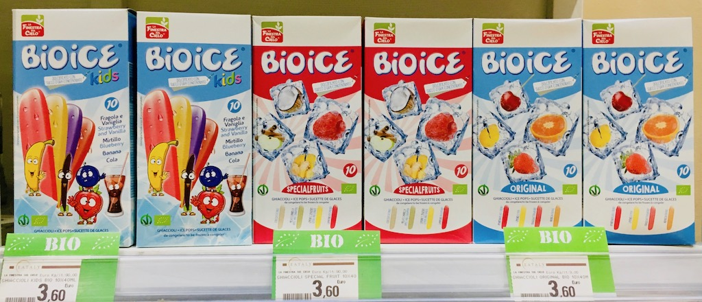 Eataly BIOICE Wassereis Original Specialfruits Kids