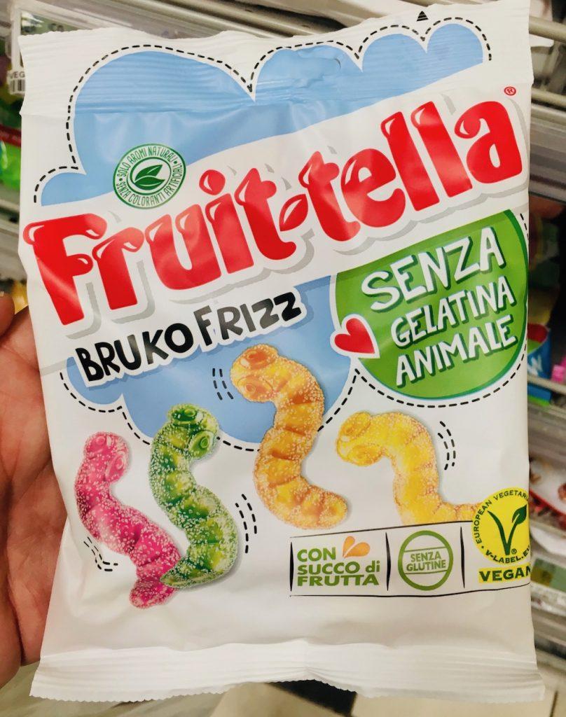 Perfetti van Melle Fruit-tella BRUKO FRIZZ Saure Würmer ohne tierische Gelatine