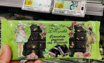 Marie Ange DiCosta Schokolade mit Pistazien nostalgisches Motiv Italien 2019