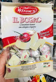 WITOR's Il BOERO Cognac-Kirsche in Weißer Schokolade Italien 250G 2019
