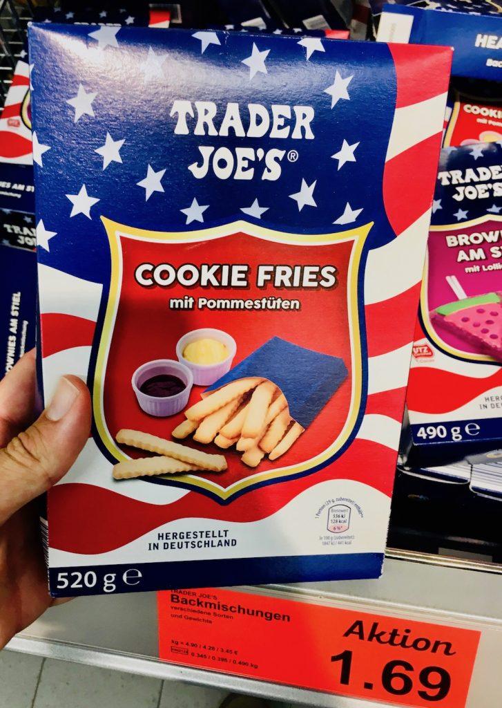 Aldi Trader Joe's Backmischung Cookie Fries mit Pommestüten