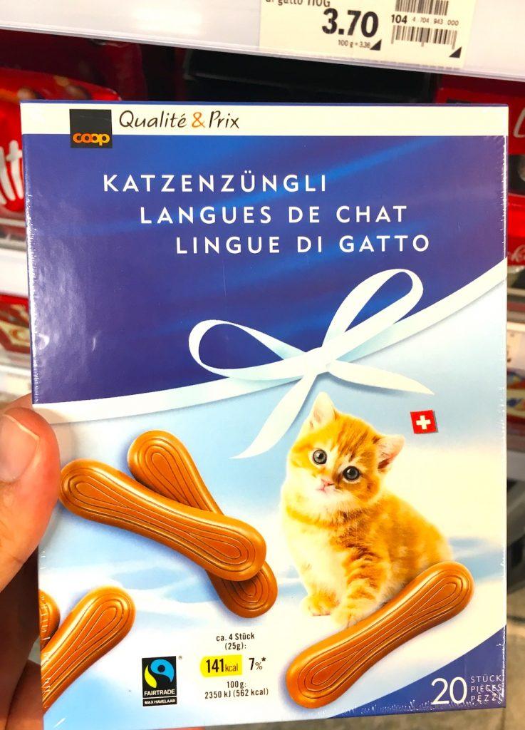 COOP Schweiz Katzenzüngli Vollmilch