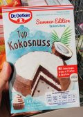 Dr. Oetker Backmichung Summer Edition Typ Kokosnuss