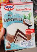 Dr. Oetker Backmichung Summer Edition Typ Kokosnuss
