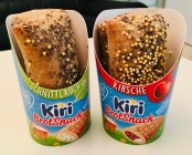 Kiri BrotSnack Pausenbrot Schnittlauch und Kirsche