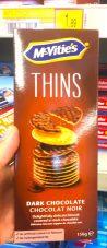 McVities Thins Dunkle Schokolade Kekse 150 Gramm