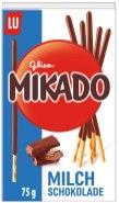 Mondelez Lu Mikado Milchschokolade 75 Gramm