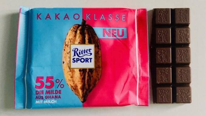Ritter Sport Kakaoklasse 55% Die Milde aus Ghana mit Milch