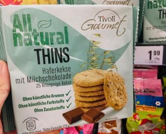 Tivoli Gourmet All Natural Thins Haferkekse mit Milchschokolade 125 Gramm