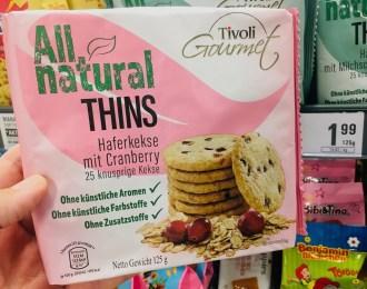 Tivoli Gourmet All natural Thins Haferkekse mit Cranberry 125 Gramm