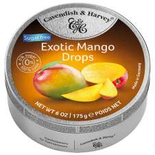 cavendish & Harvey Exotic Mango Drops Sugarfree 175g-Dose