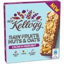 Kellogg Müsliriegel: Raw Fruits, Nuts & Oats, Typ Kakao und Haselnuss