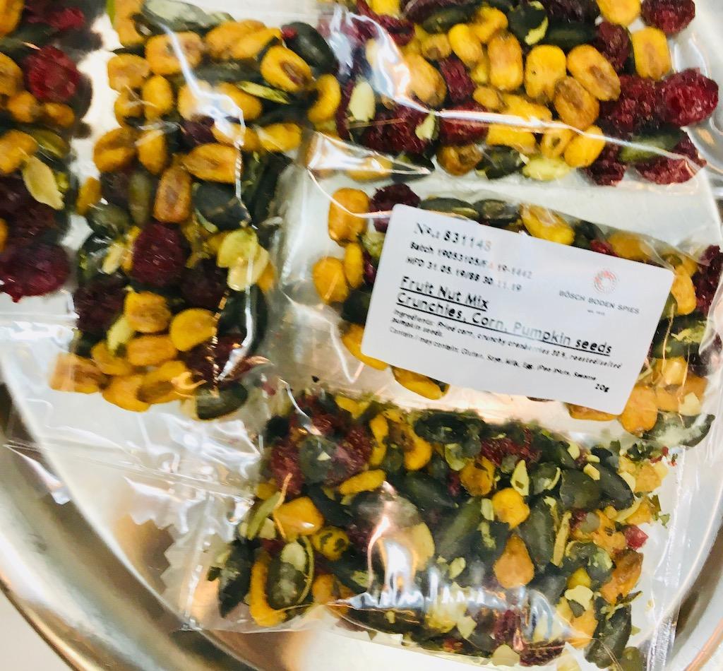 Bösch Boden Spies Fruit Nut Mix Crunchi Cranberry Mais Kürbissamen Snackex 2019