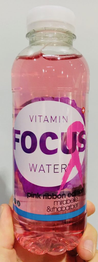 Focus Vitamin Water Pink Ribbon Mirabelle-Rhabarbar ProFachhandel 2019