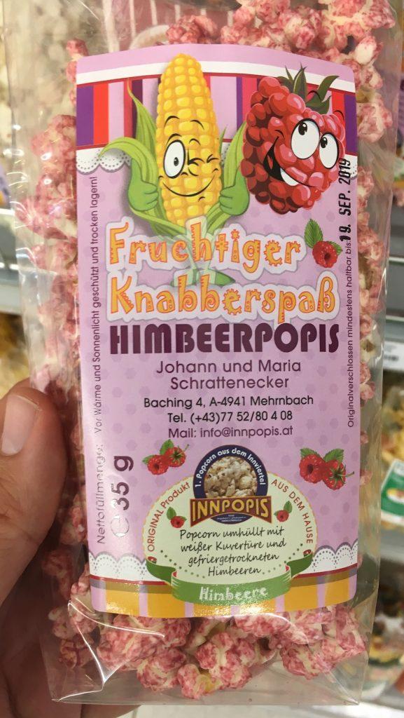 Innpopis Fruchtiger Knabberspaß Himbeerpopis 35 Gramm Österreich