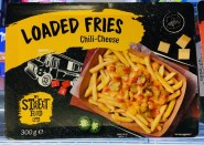 Lidl Loaded Fries Chili-Cheese My Street Food Truck 30 Gramm Mikrowellengericht TV-Dinner