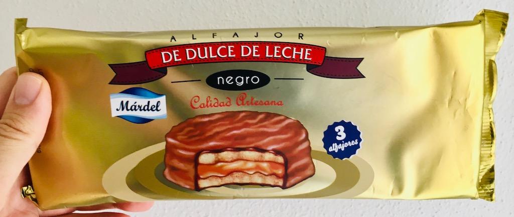 Mardel Alfajor De Dulce de Leche Negro 3 haltbare Kuchen-Törtchen Italien