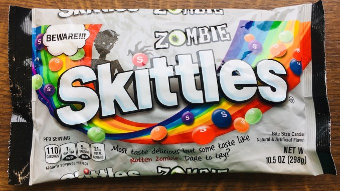 Mars Skittles Zombie Halloween Most taste delicious but some taste like Rotten Zombie