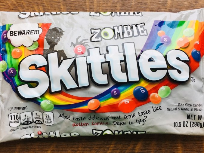 Mars Skittles Zombie Halloween Most taste delicious but some taste like Rotten Zombie