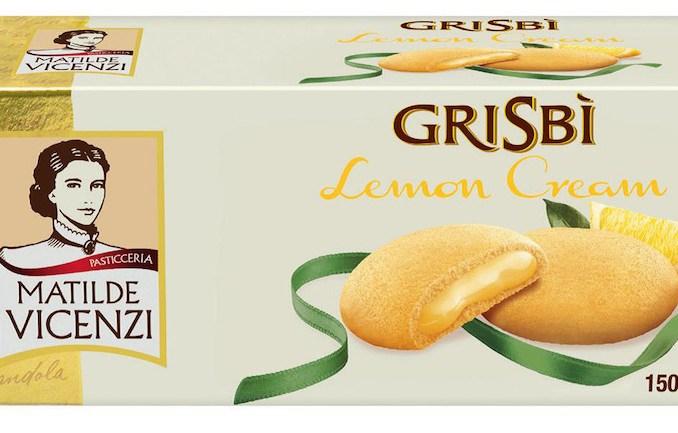 Zitronen-Geschmack in Süßigkeiten Matilde Vicenzi Grisbi Lemon Cream 150 Gramm