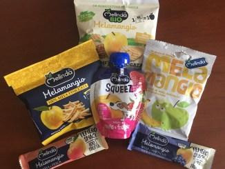 Melinda-Sortiment: Alles aus Apfel! Zum Beispiel Chips, Riegel, Muß...